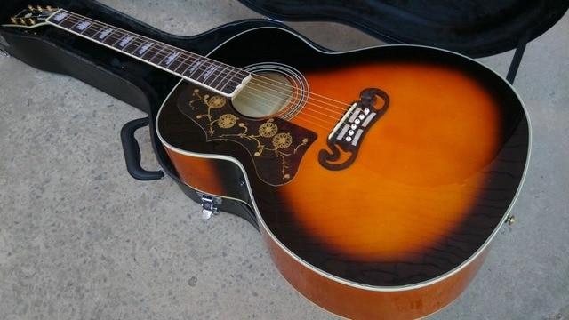 left hand Acoustic Guitar Vintage Sunburst Acoustic Electric Guitar Factory customization