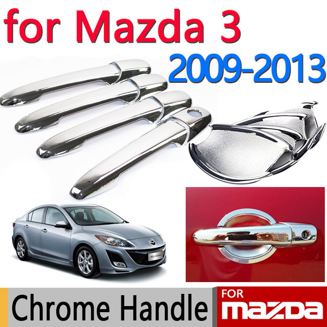 For Mazda 3 2009 2013 Accessories Chrome Door Handle Axela 2010 2011 2012  Sedan Hatchback