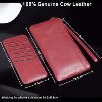 Genuine Cow Leather Hand Strap Mobile Phone Pouch Case Bags For Leagoo T5/T5S/S8/S8 Pro,Alcatel,Vernee,Cubot,Bluboo,Umi,Wiko