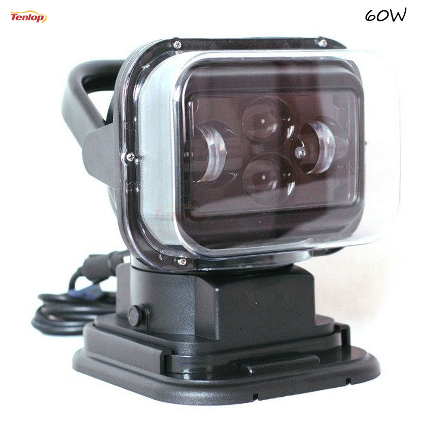 Light Sourcing 50W Black White Shell Wireless Control Searching Light For Car SUV Offroad Hunting Rescue 12/24V