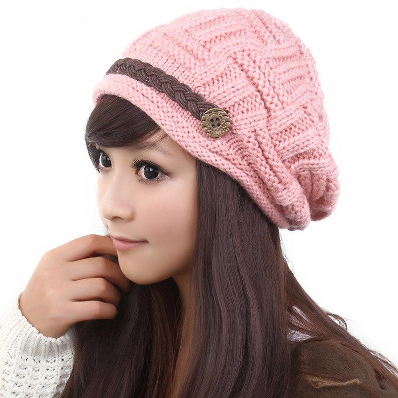 ABYABYGO Winter Beanie Cute Warm Kawaii Tight Knitted Hat Infinite Braid  Women Brand Cap Beanie Headgear Headdress Head Warmer-in Skullies   Beanies  from ... bb85084a9d7