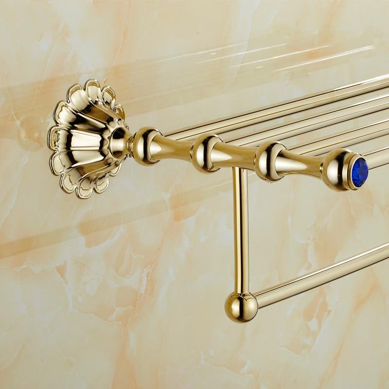 vintage style bathroom towel rack towel shelf holder carved pattern wall mount towel bar barhroom accessories hqy 8516