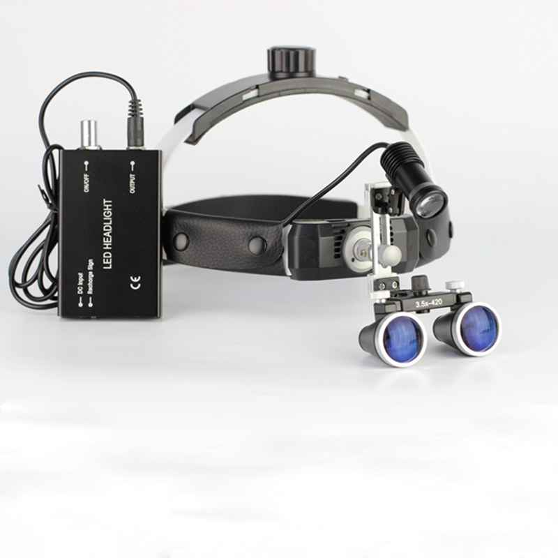 3 5X High Intensity LED Light Surgical Operation Medical Magnifier with Dental Headlight Surgical Dental Loupes in Magnifiers from Tools