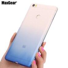 Для Xiaomi Макс чехол Прозрачный тонкий силиконовый ТПУ Мягкая оболочка Цвет градиент чехол МИ Макс 6.44″