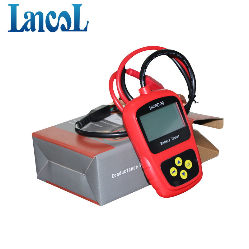 LANCOL Original MICRO 30 Motorcycle Battery Tester Autobike Battery Analyzer 12v Diagnostic Tool LCD Display Bad