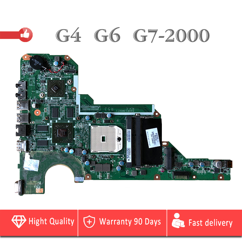 YTAI for HP Pavilion G4 G6 G7-2000 laptop motherboard 683030-501 DA0R53MB6E1 socket FS1 DDR3 mainboard fully tested 683029 501 683029 001 main board fit for hp pavilion g4 g6 g7 g4 2000 g6 2000 laptop motherboard socket fs1 ddr3