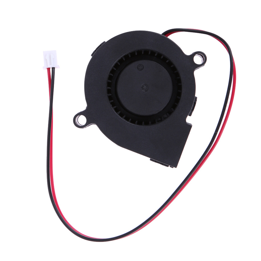 High Quality  DC 12V 0.06A 50x15mm Black Brushless Cooling Blower Fan 2 Wires 5015S dc 12v ultra quiet mid speed brushless dc blower black brushless dc cooling blower fan 2 wires 5015s 0 06a 50 15mm
