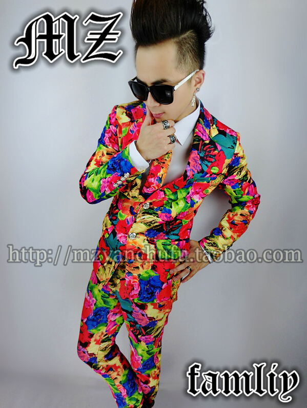 Excellent Exclusive Men clothes Men s Personality trend Blazers Men Fashion Colorful Colors Suits Stage Costumes