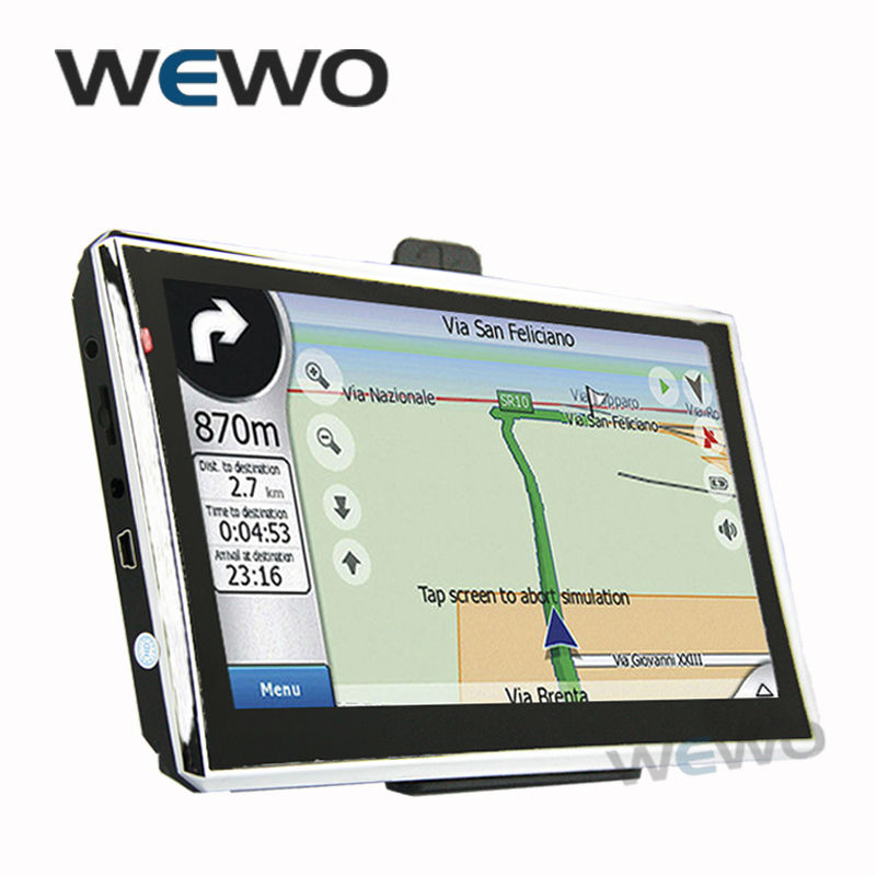 New 7 inch GPS Navigation FM 4GB/128M DDR/800MHZ Map Free Upgrade Russia/Belarus/Spain/ Europe/USA+Canada/Israel navigator