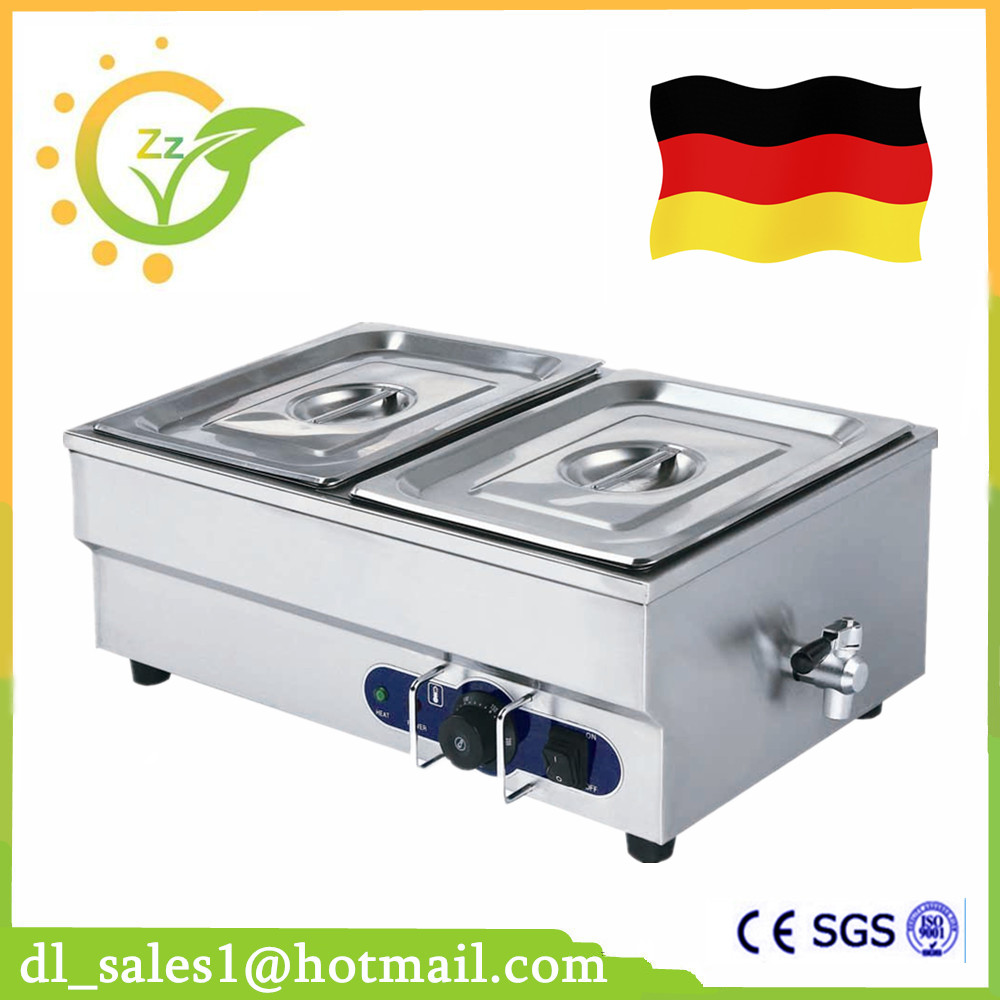 Brand New Food warmer 1.5KW Professional Commercial Kitchen Equipment Stainless Steel Electric Countertop Bain Marie free ship new premium fast food equipment commercial package double grilled hamburger machine price