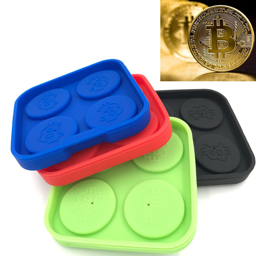 Hot New Bitcoin Lattice Freeze Mold Bar Pudding Jelly Chocolate Molds Ice Cube Popsicle Tray Tool @LS MA2218