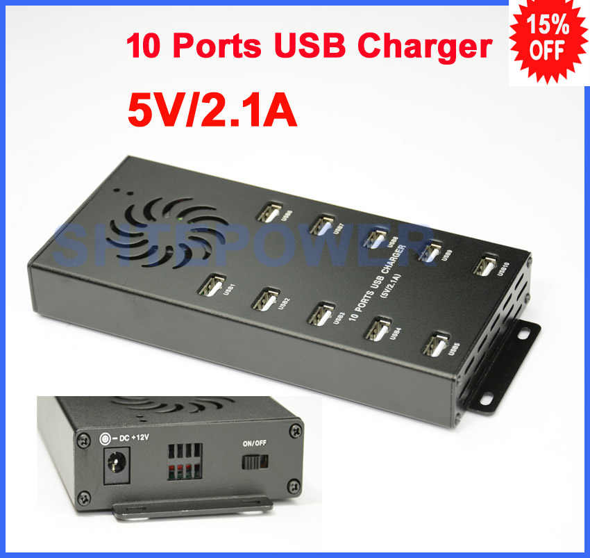 DC 12V input Hub USB with 10 Ports Charger for iPone/iPad/Mobile Phone/Camara/MP3/MP4 цены