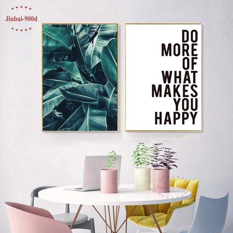 Beautiful D Poster Und Drucke Wandkunst Leinwand Malerei Grn Palm  Wandbilder Fr Wohnzimmer Nordic Poster Cuadros Decoracion Nor With Poster  Wohnzimmer
