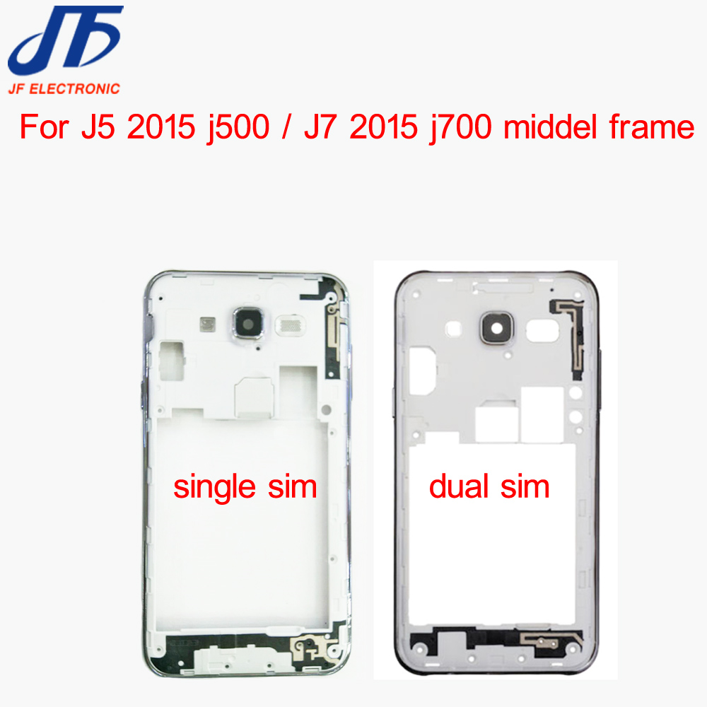 50pcs lot Middle Plate Frame Bezel Housing Cover with camera lens For Samsung Galaxy J5 J500
