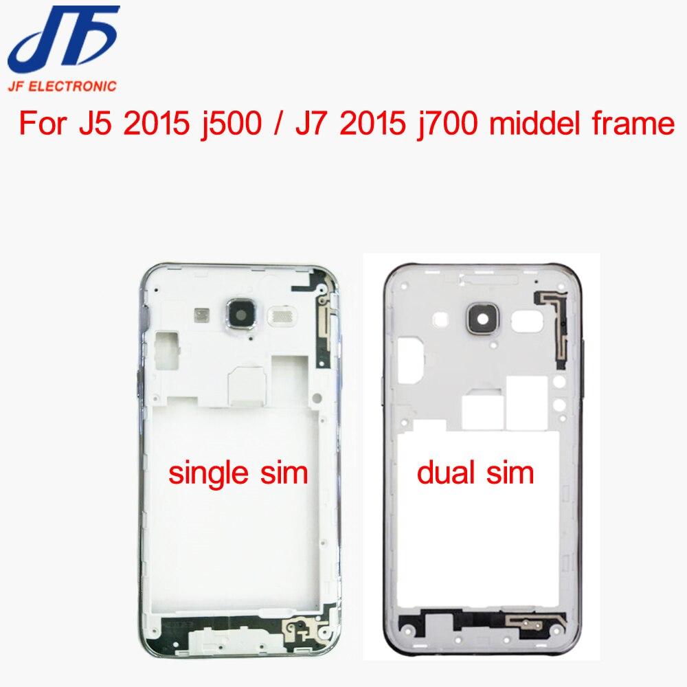 50 stks/partij Midden Plate Frame Bezel Behuizing met camera lens Voor Samsung Galaxy J5 J500 J500F J7 J700 J700F (2015 versie)-in Behuizing voor mobiele telefoons van Mobiele telefoons & telecommunicatie op AliExpress - 11.11_Dubbel 11Vrijgezellendag 1