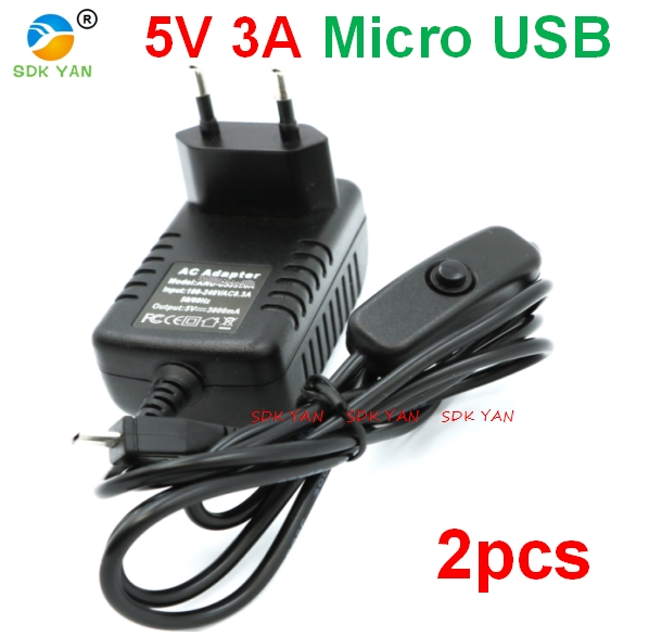 2 pcs 5v 3a mirro usb ON / OFF Button power charger EU 5V 3A Micro USB Charger Raspberry PI 3 Power Supply adapter 5v 3a micro 2 pcs 5v 3a mirro usb ON / OFF Button power charger EU 5V 3A Micro USB Charger Raspberry PI 3 Power Supply adapter 5v 3a micro