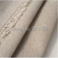 Chất lượng cao 150*100 cm màu sắc tự nhiên Cotton Linen Fabric DIY May Craft Đối Rèm bông chắp vá vải miễn phí