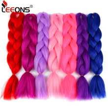 Leeons 1шт розовый джамбо плетение волос вязание крючком коса наращивание волос джамбо косы