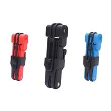 Anti-cut Safety MTB Folding Bike Lock Professional Anti-theft Alloy Steel Foldable Bicycle Lock With Mounting Bracket