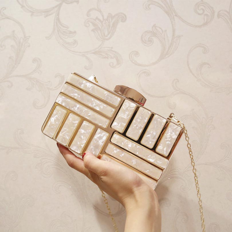 Acrylic Luxury Clutches  bag