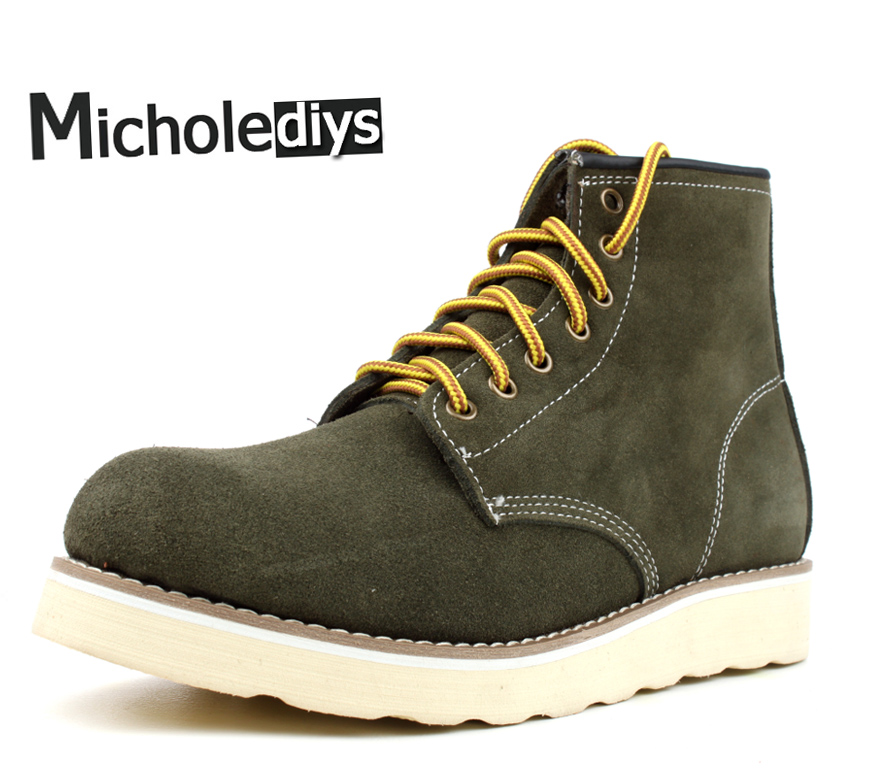Micholediys Winter Nieuwe aankomst Handmade Vintage All Leather - Herenschoenen - Foto 1