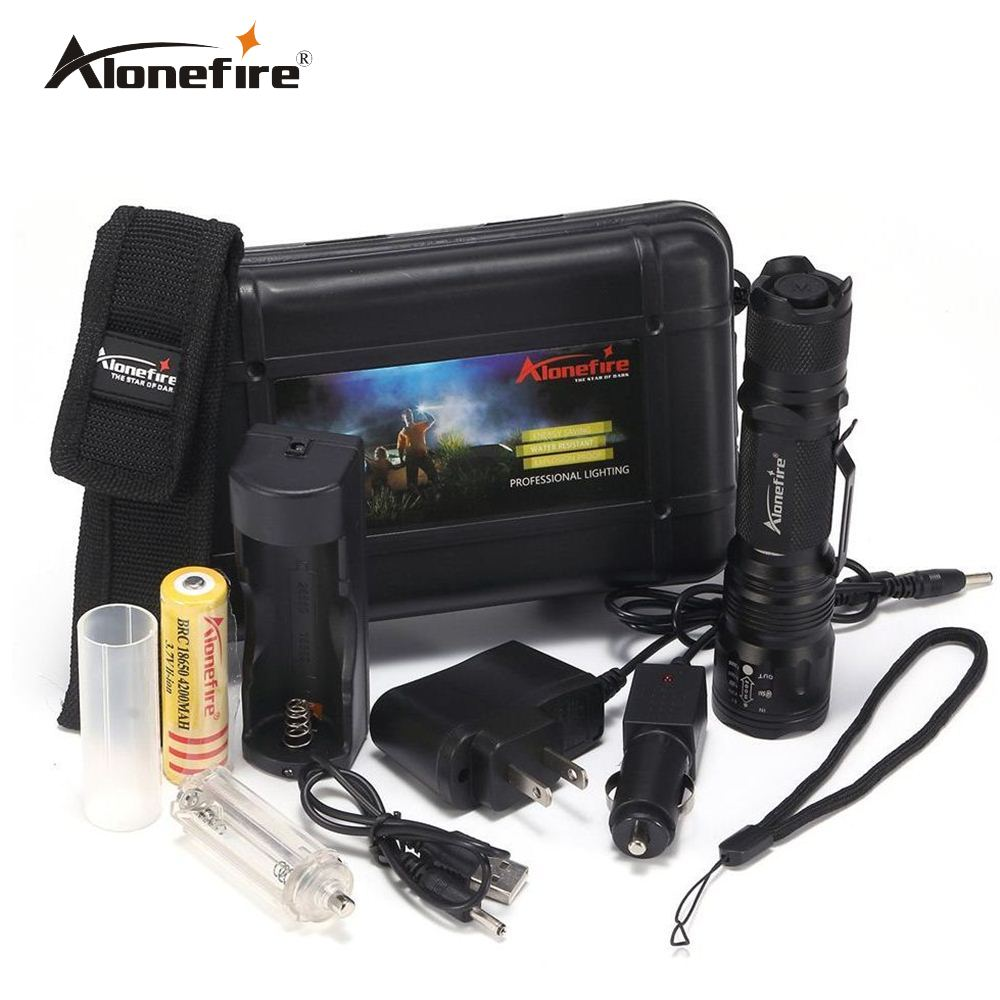 AloneFire TK105 Led 18650 Flashlight CREE XPL V6 Zoomable Torch AAA zoom waterproof 5 mode flash lights Zooming LED Flashlight uitrafire af 13 250lm 3 mode white zooming flashlight w cree xp e q5 black golden 1 x 18650