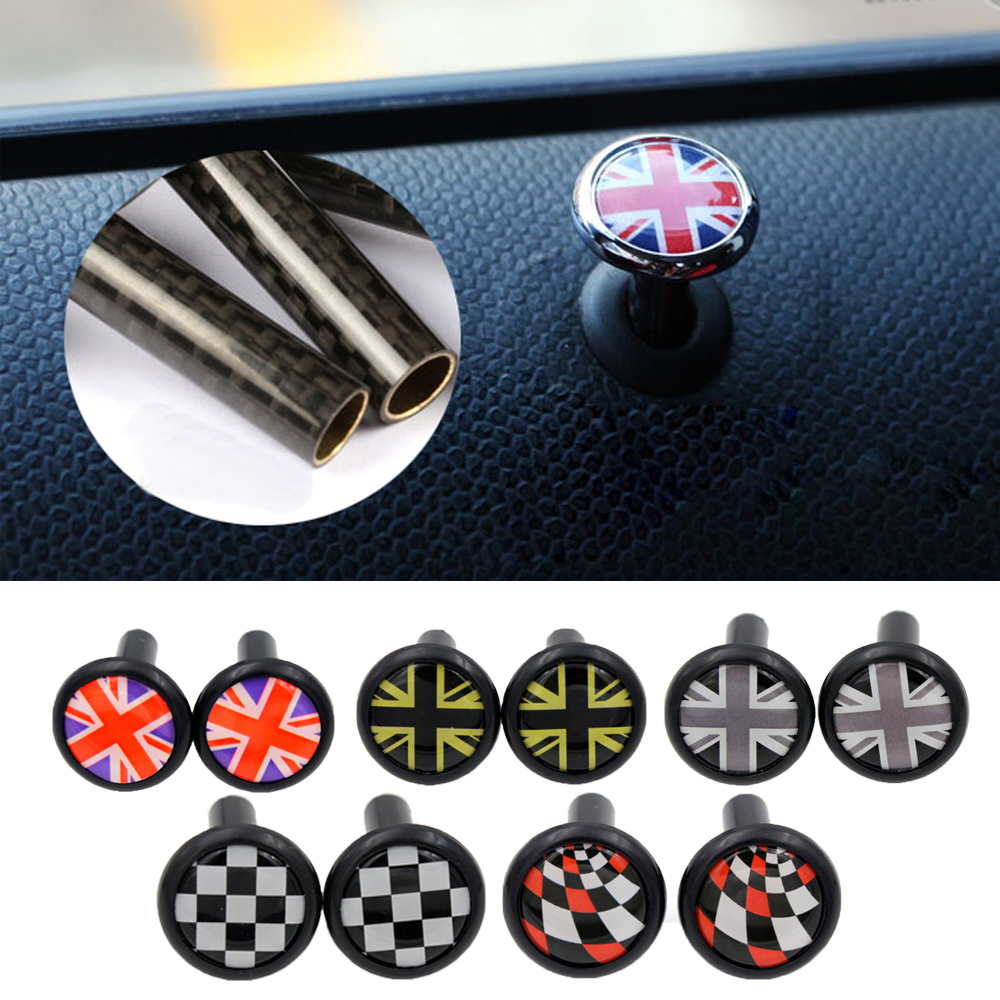 2pcs Auto Interior Door Lock Pin Cover Sticker for BMW MINI COOPER JCW One+ S Countryman Clubman F55 R60 Car Styling Accessories