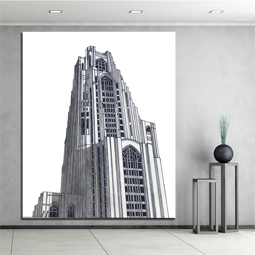 Large Size Printing Oil Painting Pittsburgh Wall Painting Home Decor Wall Art Picture For Living Room