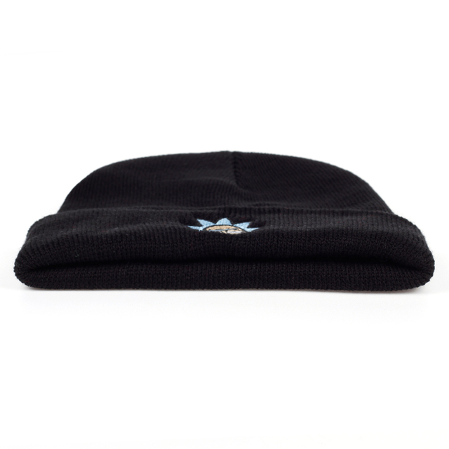 Elastic Brand Embroidery Warm Winter Unisex Knitted Hat 2