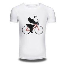 DY 89 Men s 2016 Fashion Panda Riding Design T Shirt High Quality Tops Hipster Summer