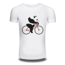 DY-89 Men's 2016 Fashion Panda Riding Design T Shirt High Quality Tops Hipster Summer Men Tees