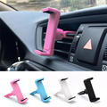 Universal Car Air Vent Mount Holder Cell Phone Stand Holder for iPhone Samsung HTC LG Mobile Phone Universal GPS Cradle 4 Colors