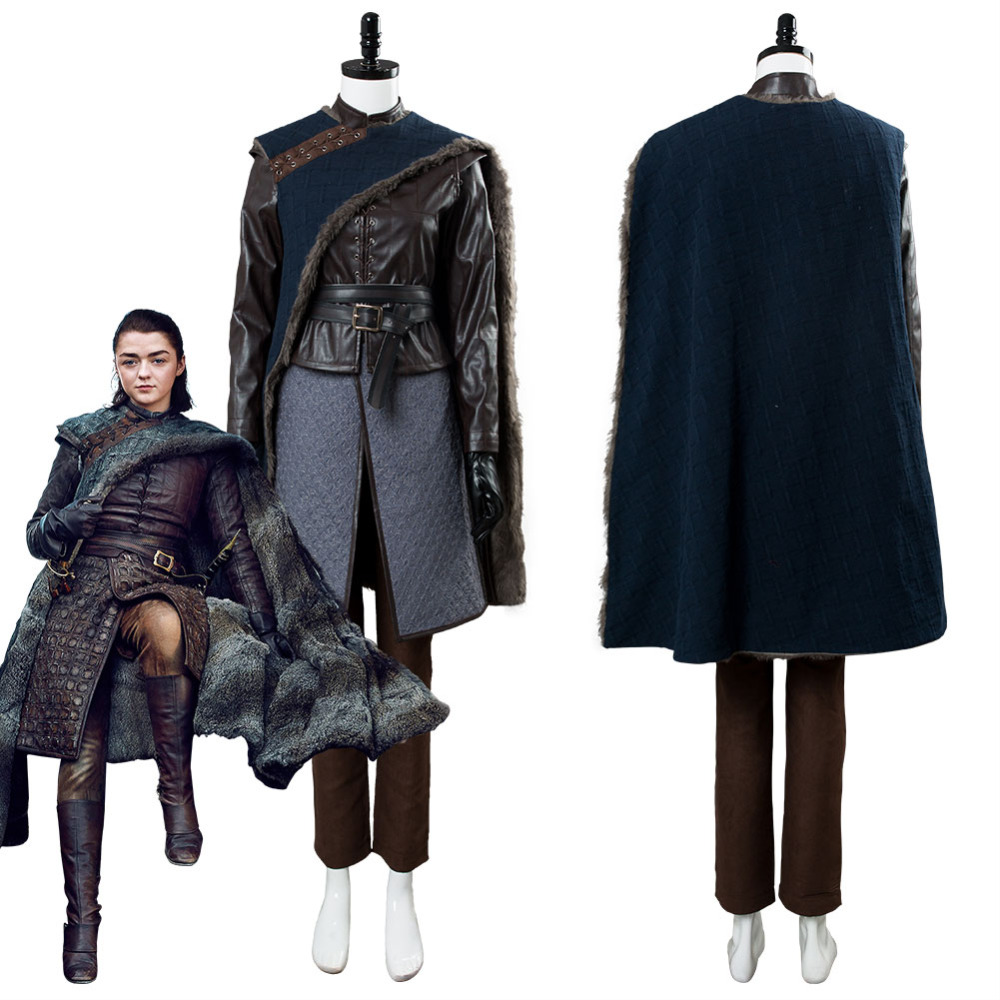 Game of Thrones Costume Cosplay Arya Stark Cosplay Costume Outfit Full Suit Halloween Carnival Costumes