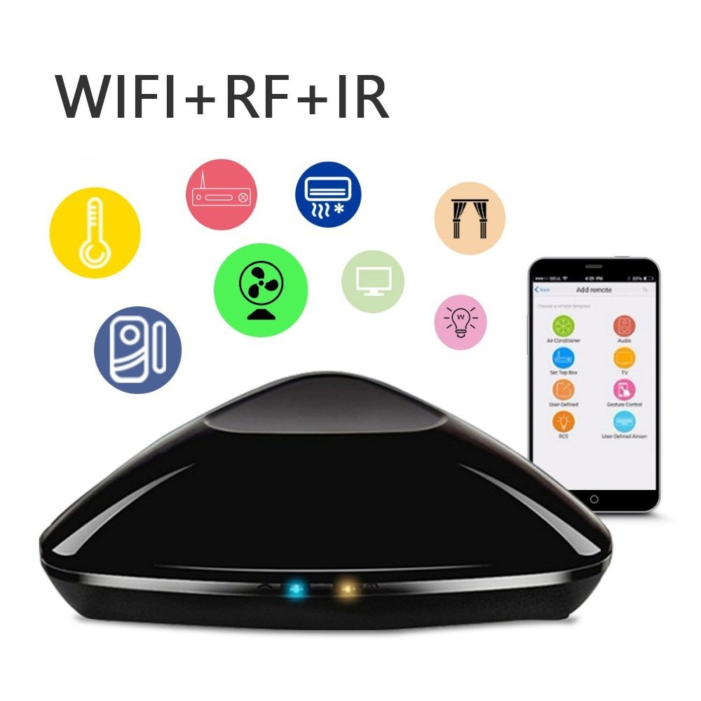 WiFi Smart Home Hub IR RF All In One Automation Learning Universal Remote Control Compatible for Apple Android Smartphone цена и фото