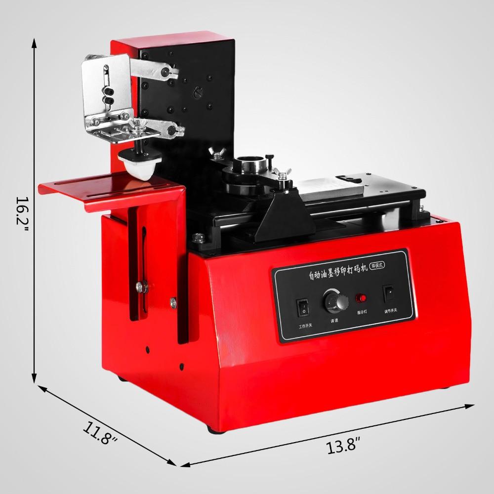 Electric Pad Printer Printing Machine T-Shirt YM-600B Environment Protective Oil Ink Date Printer