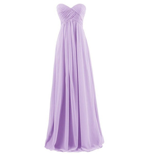 Image 4 - QNZL#Ball Gown Strapless Plus Size Pink Burgundy Long Bridesmaids Dresses Wedding Party Prom Gown Dress Wholesale Free Custom