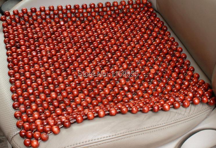 Car massage cushion bead cushion monolithic natural pure color logs manual wood bead cool car seat cushion