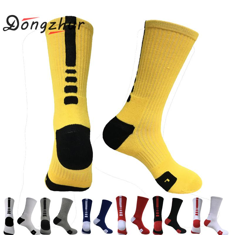 Men Outdoor Sports Elite Basketball Socks High Quality Men Cycling Socks Compression Socks Cotton Terry  Men's socks Quciky Dry