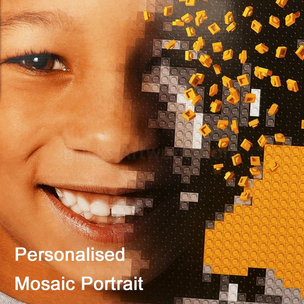 Пиксель арт MOC комплект Legoness 40179 персонализированные мозаичный портрет блоки Живопись Аватар построить себе Специальные рождественские по