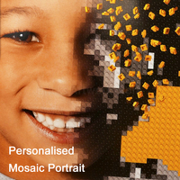 Pixel Art MOC Set Fit 40179 Personalized Mosaic Portrait Blocks Painting Avatar Build Yourself Special Christmas Gifts