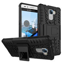 Cover For Honor 7 Case Soft Silicon Hard Plastic Huawei Ascend Fundas With Kickstand Phone Holder Coque