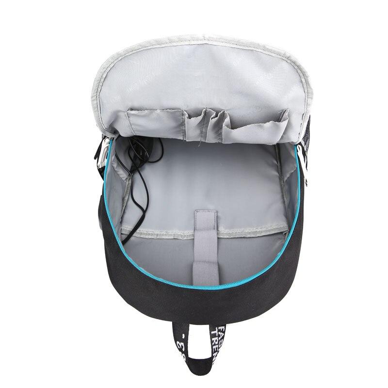 DIMOM cool Luminous USB Laptop Backpacks 2019 American Mystery DJ School Bag for Girls Boys Teenagers Children's Bookbag