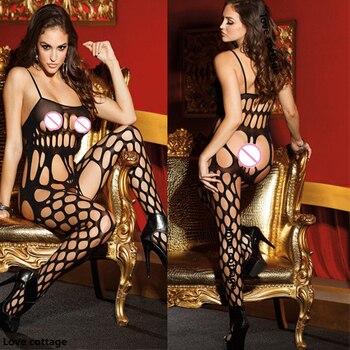 Sexy fetish Bodystockings underwear Crotchless