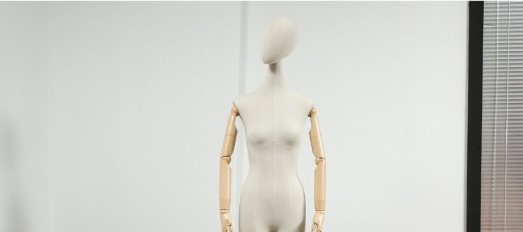 Clothes mannequins female half body mannequin cloth belt female wedding dress mannequin women\'s fabric mannequin (9)
