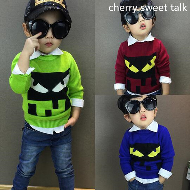 Hit the devil sweater children hedge quality of boy and girl's sweater knitted children's sweaters