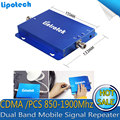 GSM 850 мГц UMTS 1900 мГц Двухдиапазонный Мобильный Усилитель Сигнала Сотового Телефона Booster Сотовый Сигнал Повторителя Для AT & T
