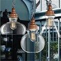 Скандинавский американский кантри креативная деревянная хрустальная люстра стеклянная лампа ретро Ресторан Бар Кафе лампа для учебы Бесп...