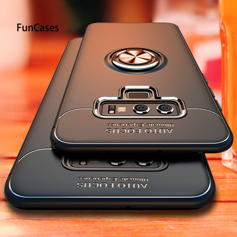 Luxury Bracket Ring Case For Samsung S7 S8 S9 S10 Plus Note 9 8 M20 M10 A70 <font><b>50</b></font> <font><b>40</b></font> 10 A6 A7 A8 A9 2018 Soft Silicone Holder Cases image