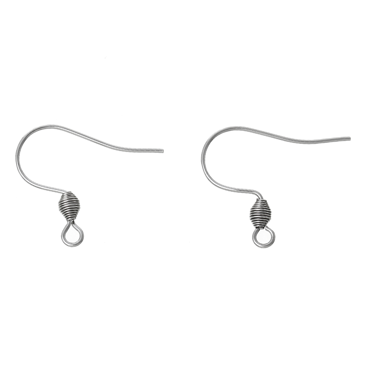 DoreenBeads Stainless Steel Earring Components Hooks U-shaped dull silver color 19mm(6/8)x 17mm(5/8),50 Pairs