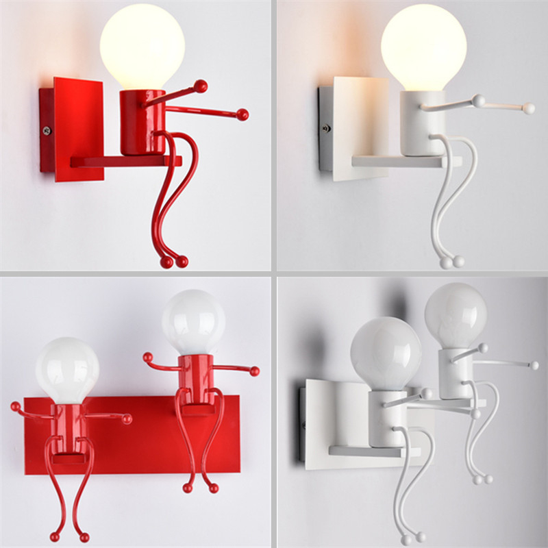 Wall Lamps Kids Rooms: Lilliput Modern Led Doll Wall Lamp Luminaire For Children